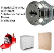 Zinc Cam Lock For Filing Cabinet Mailbox Drawer Cupboard Locker & 2 Keys (SKTQ)