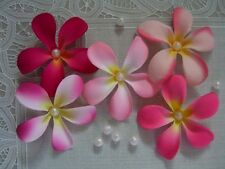 "DISCOUNTED 50 FRANGIPANI Artificial Silk Flowers 3"" Wedding Hair Decorations"