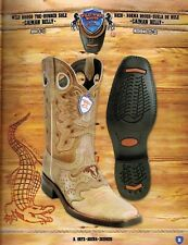 Wild West Men's Rodeo Toe 1/2 Vamp Caiman Cowboy Western Boots Diff.Colors