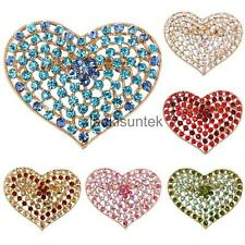 Gorgeous Crystal Rhinestone Love Hearts Brooch Pins Jewelry Mixed Colors