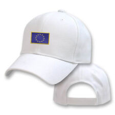 EUROPEAN UNION WHITE FLAG COUNTRY EMBROIDERY EMBROIDED CAP HAT