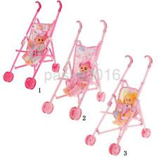 Multicolored Plastic Doll Toy Cute Children Doll Girl Stroller Christmas Gift