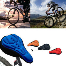 Cushion 3D Pad Saddle Gel Cycling Bicycle Silicone Cover Seat Bike Saddle Soft