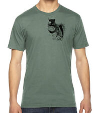 Evil Squirrel Graphic American Apparel Fine Jersey T-Shirt RC12941