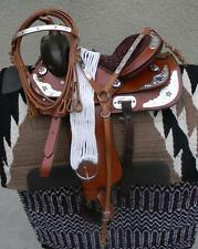 """14"""" New Tan STAR All Leather Western Pleasure Show Trail Saddle Package  See"""