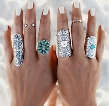 Boho Womens Ring Hot Geometry Style Vintage Finger Rings Punk Retro