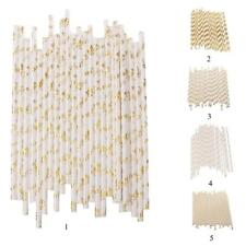 25x Gold Foil Multi print Hens Party Wedding Xmas Cocktail Juice Drinking Straws