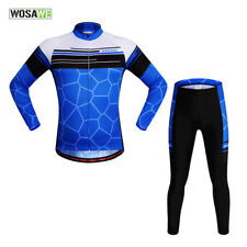 Cycling Mens Bicycle Jacket Road Bike Gel Pad Pants Long Sleeve Top Jersey Soft