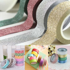 Glitter Washi Sticky Paper Masking Adhesive Tape Sticker DIY Craft Decoration
