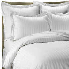 Hypoallergenic 100% Egyptian Cotton Fitted Sheet Striped 300 Thread Count