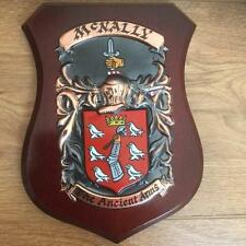 McNALLY Family Handpainted Coat of Arms PLAQUE Shield 50.000 names available