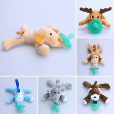 2016New Cartoon Infant Baby Silicone Pacifiers With Plush Animal Toy Baby Nipple
