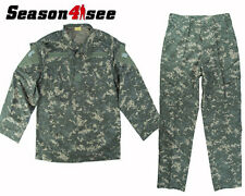 4 Size ACU  Men's Uniform Shirt & Pants Airsoft Tactical  Army Combat V2 Hunting