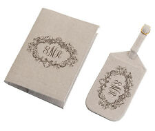 WEDDING-HONEYMOON LUGGAGE TAGS & PASSPORT PERSONALIZE COVERS-BUY THE SET & SAVE!