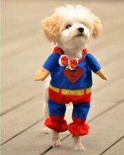 Pet Cat Dog Puppy Clothes Costumes Apparel T Shirt Superman Suit for Small DogAS