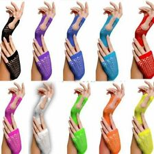 Girls Neon Short Fishnet Fingerless Gloves Party Gloves Fishnet Gloves HOT Sell