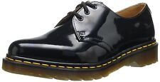 New Dr Martens 1461 Patent Womens Black Gloss Shiny Leather Lace Up Flat Shoes
