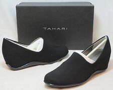 TAHARI Women's Abby Wedge Slip On - Black - Sz 8.5 Only NIB - MSRP $79