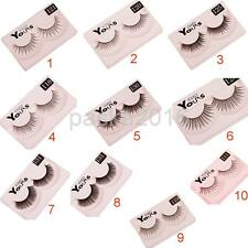 10 Pairs Beauty Makeup Black Comfort False Natural Eyelashes Eye Lashes