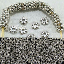100pcs/400pcs Findings Spacer Beads Tibetan Silver Chic Daisy Jewelry 4mm/6mm