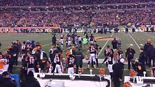 2 FRONT ROW Tickets Bengals vs Baltimore Ravens 1/1 - Section 109 - Row 1