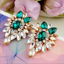 Girls Earrings Jewelry Elegant  Women Crystal Rhinestone Lady Fashion Ear Stud
