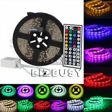 SMD 5050 3528 RGB 5M 300leds Flexible Light Strip 12V 44key Remote Power Supply