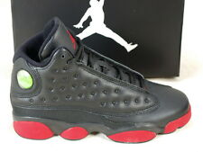 Nike Air Jordan 13 XIII Retro BG Bred Black Gym Red Youth Kids Shoes 414574-033