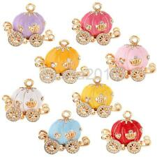 Adorable Pumpkin Carriage Charm DIY Key Ring Part Creative Pendent for Necklace