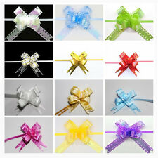 60 AB Coating Small Pull Bows Butterfly Ribbon Wedding Party Gift Wrap Decor DIY