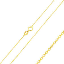 0.9mm 925 Sterling Silver Anchor Chain Necklace / 14K Gold Plated made in italy