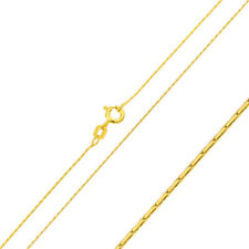 0.65mm 925 Sterling Silver Cardono Chain Necklace / Gold Plated made in italy
