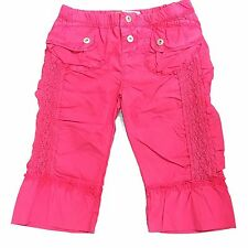 Girls Diesel Pigur Cargo Pants Junior Trousers Pink Age 3-8 Years NEW