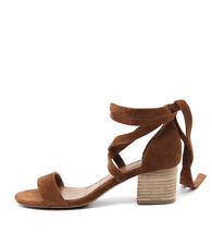 New Siren Nevada Tan Cow Suede Women Shoes Casuals Sandals Heels