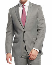 Dkny Slim Fit Gray Nailhead Two Button Wool Suit