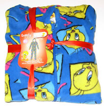 Tweety Bird 1pc Micro Fleece Hooded Pajama Set size Sm Med LG or X-Large, NWT