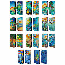 OFFICIAL DREW BROPHY SURF ART 2 LEATHER BOOK CASE FOR MICROSOFT NOKIA PHONES