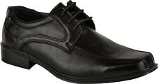 Mens faux leather shoes smart wedding formal office dress boys shoes
