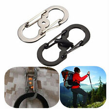 Locking Hook Clip Camping Hiking Keychain Climbing Carabiner Buckle Lock S Ring