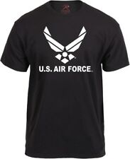 Black US Air Force Wing Logo Official USAF T-Shirt