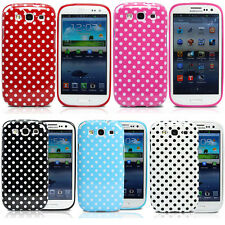 For Samsung Galaxy S3 SIII i9300 Polka Dots Soft Strong Gel Phone Case Cover