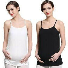 Womens Pregnant Strappy Vest Blouse Tops Shirt Maternity Tank Top Camisole Cami