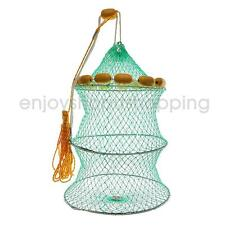 Foldable Fishing Keep Net Fishing Crab Fish Lobster Crawdad Trap Nets