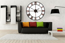 Large Wall Clock Vintage Wall Clock 80CM Handmade Vintage Rustic for Home Decor