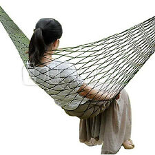 Sleeping Bed Nylon Swing Portable Hammock Hanging  Outdoor Mesh Travel Camping