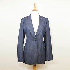 Balmain Denim Blue Wool Blazer