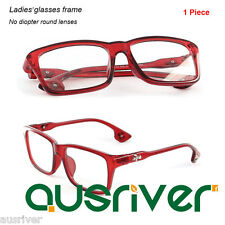 Fashion Women's Red Eyeglasses Full Rim Spectacles Frame No Diopter Lenses