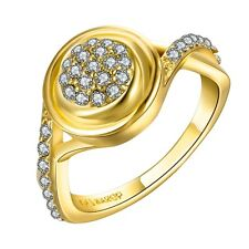New Elegant 18K Gold Plated GP Swarovski Crystal Rhinestone Womens Ring Jewelry