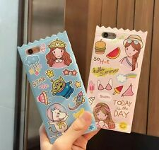 Fashion Summer Candy Series Ice Cream Cute Moomin Soft Case For iPhone 6 6s Plus