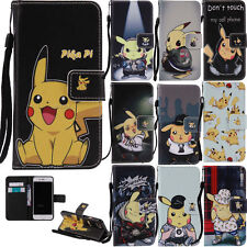 """Cute Pikachu Patterns Case for iPhone7 4.7"""" Phone PU Leather Stand Wallet Cover"""